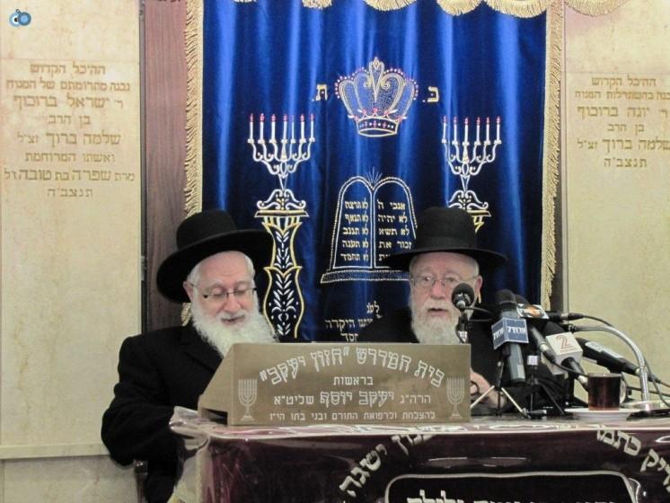 הרב דב ליאור והרב יעקב יוסף בשיעור ב'בורוכוב'