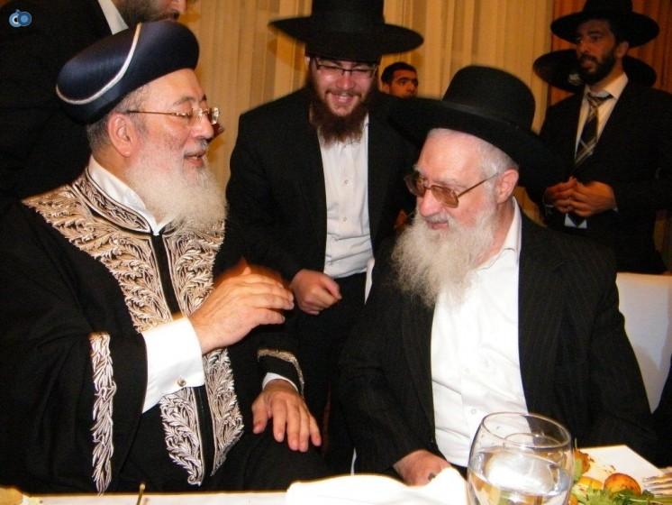 הרב יעקב יוסף בחתונת נכדו של הרב הראשי עמאר