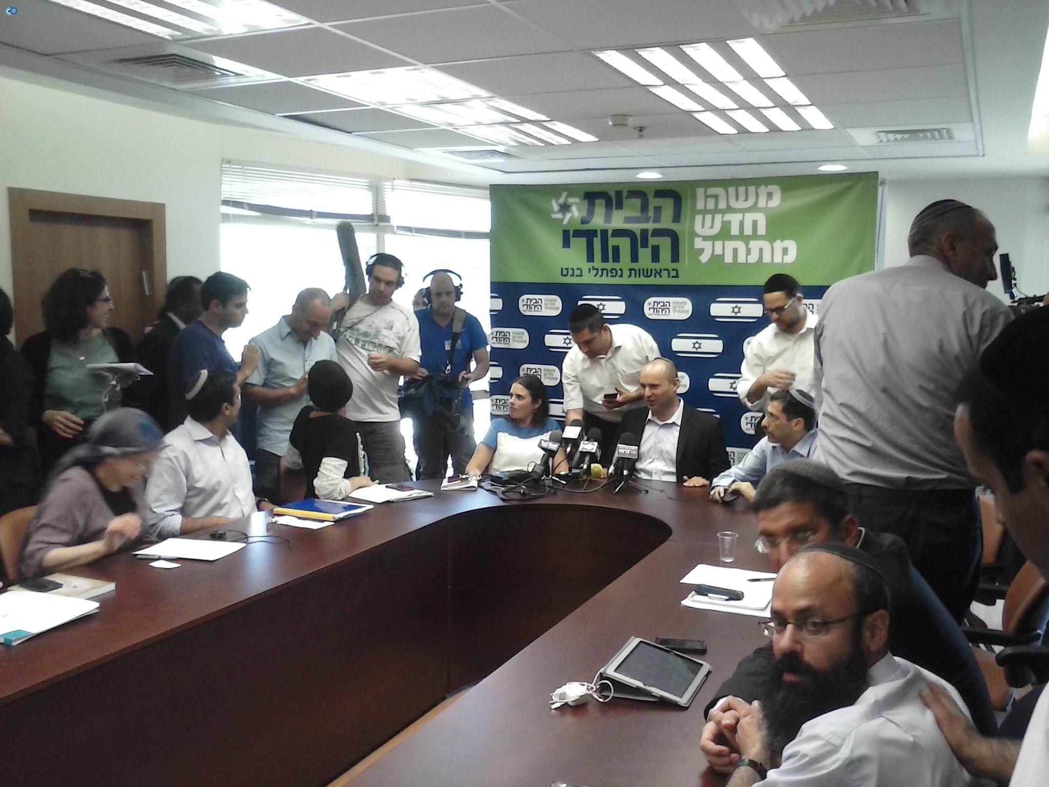 בנט במסיבת עיתונאים בסיעת הבית היהודי (1)