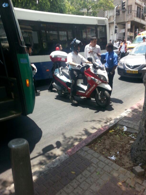 צעירה נפגעה בתאונה של אופנוע (10)