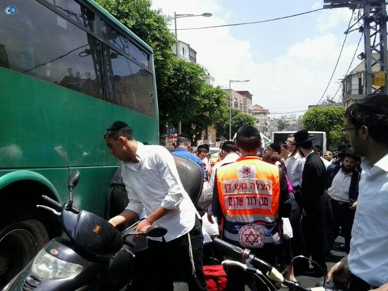 צעירה נפגעה בתאונה של אופנוע (14)