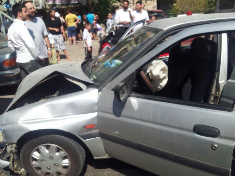 תאונה בבני ברק עם רכב אוטובוס אופנוע (5)