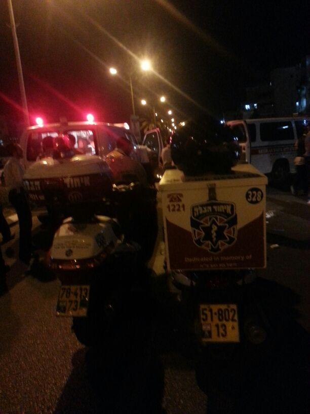 תאונה הצלה רכב פגע בחרדית (4)