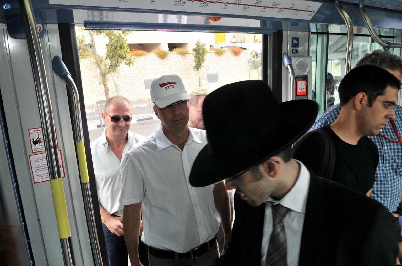 מנהלי סיטיפס בסיור ברכבת במהלך חול המועד