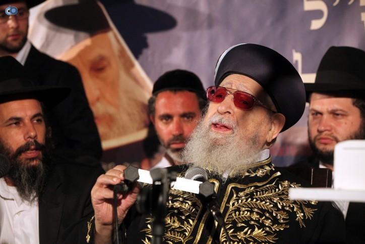 """הרב עובדיה יוסף הגר""""ע יוסף. פלאש 90"""