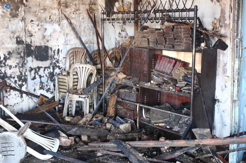 שריפה הרס בלרוס בית כנסת (1)