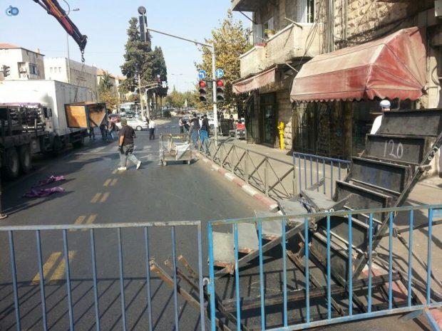 תמונות מההכנות לעצרת  הגרע יוסף- חדשות 24 (1)