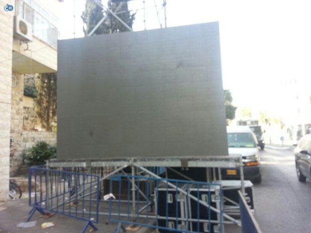 תמונות מההכנות לעצרת  הגרע יוסף- חדשות 24 (9)