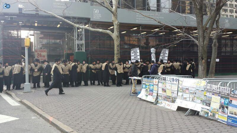 הפגנה נגד  הגיוס במנהטן חרדים   צילם  מוטי קליין 24 (1)