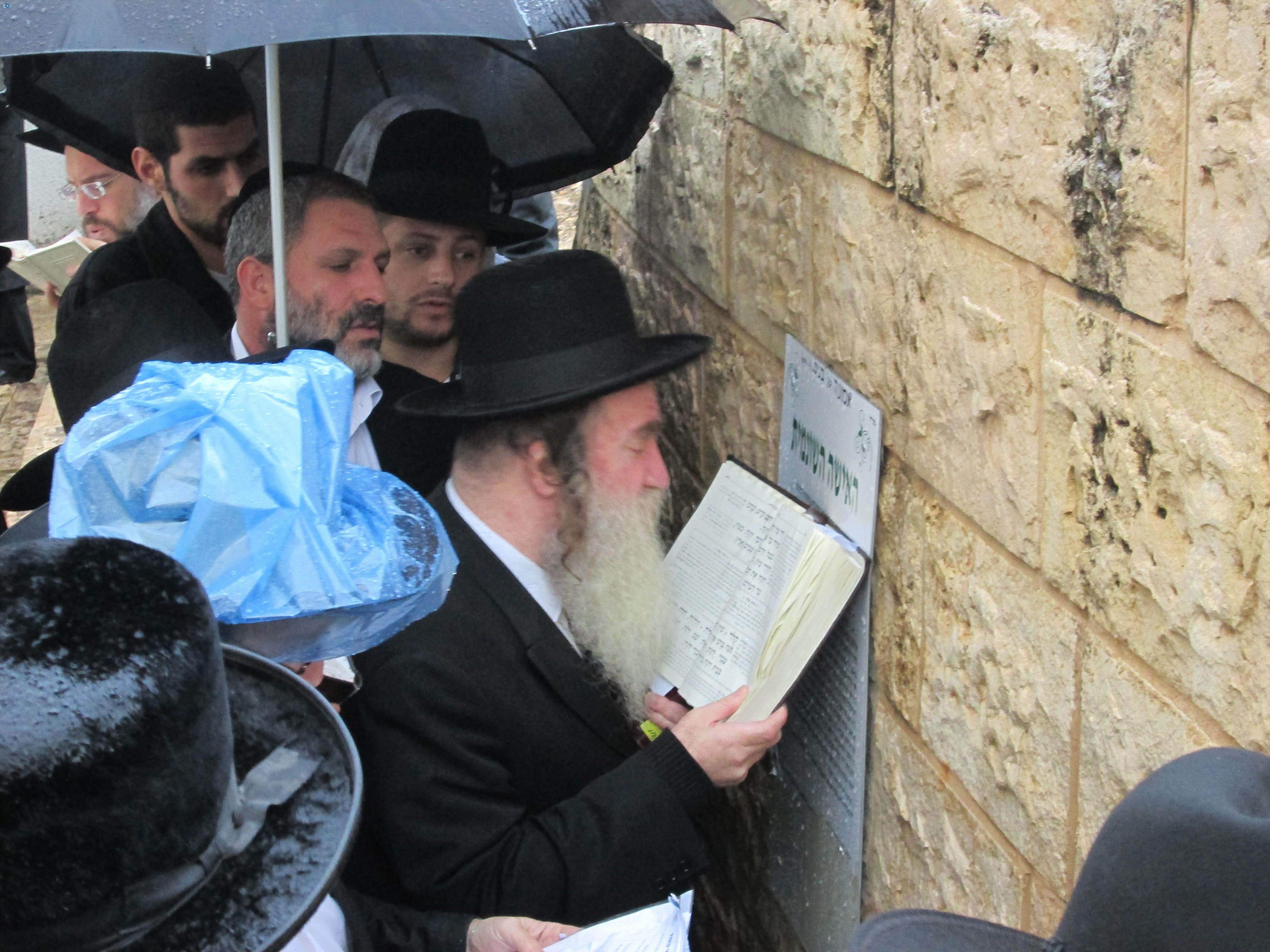הרב מרדכי גרוס בתפילה (2)