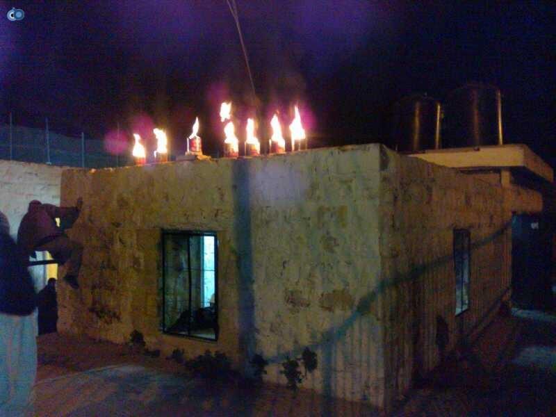 קבר יוסף-הדלקת נרות חנוכה- צילום, מינהלת קבר יוסף (3)