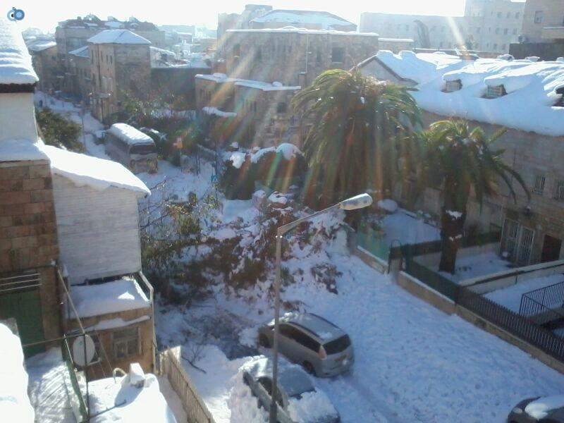 שלג בגאולה- שמואל בן ישי- חדשות 24 (6)