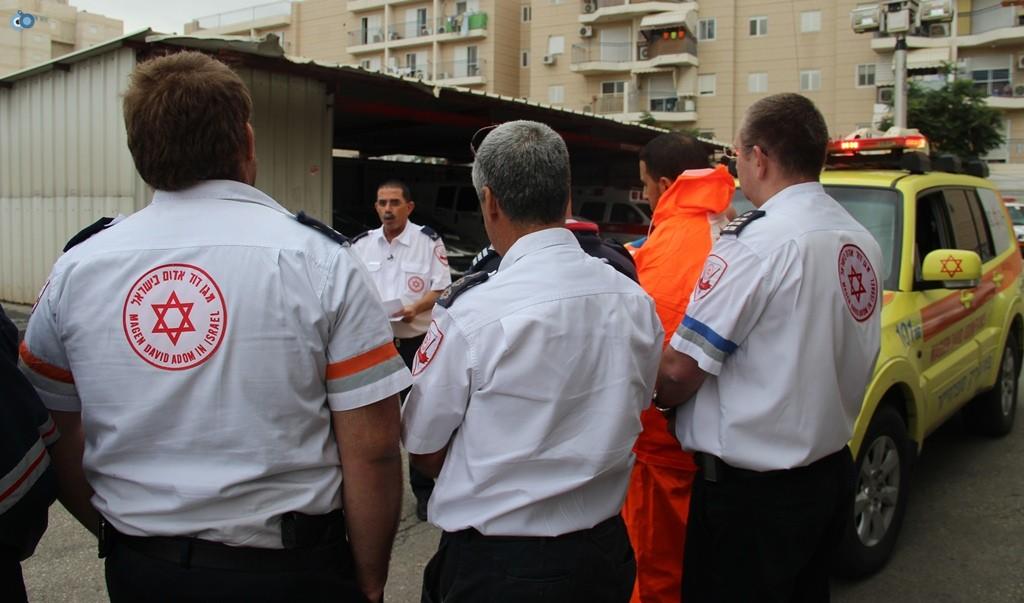 תדריך חורף לעובדים בתחנת מדא (2) - צילום דוברות מדא 10.12.13