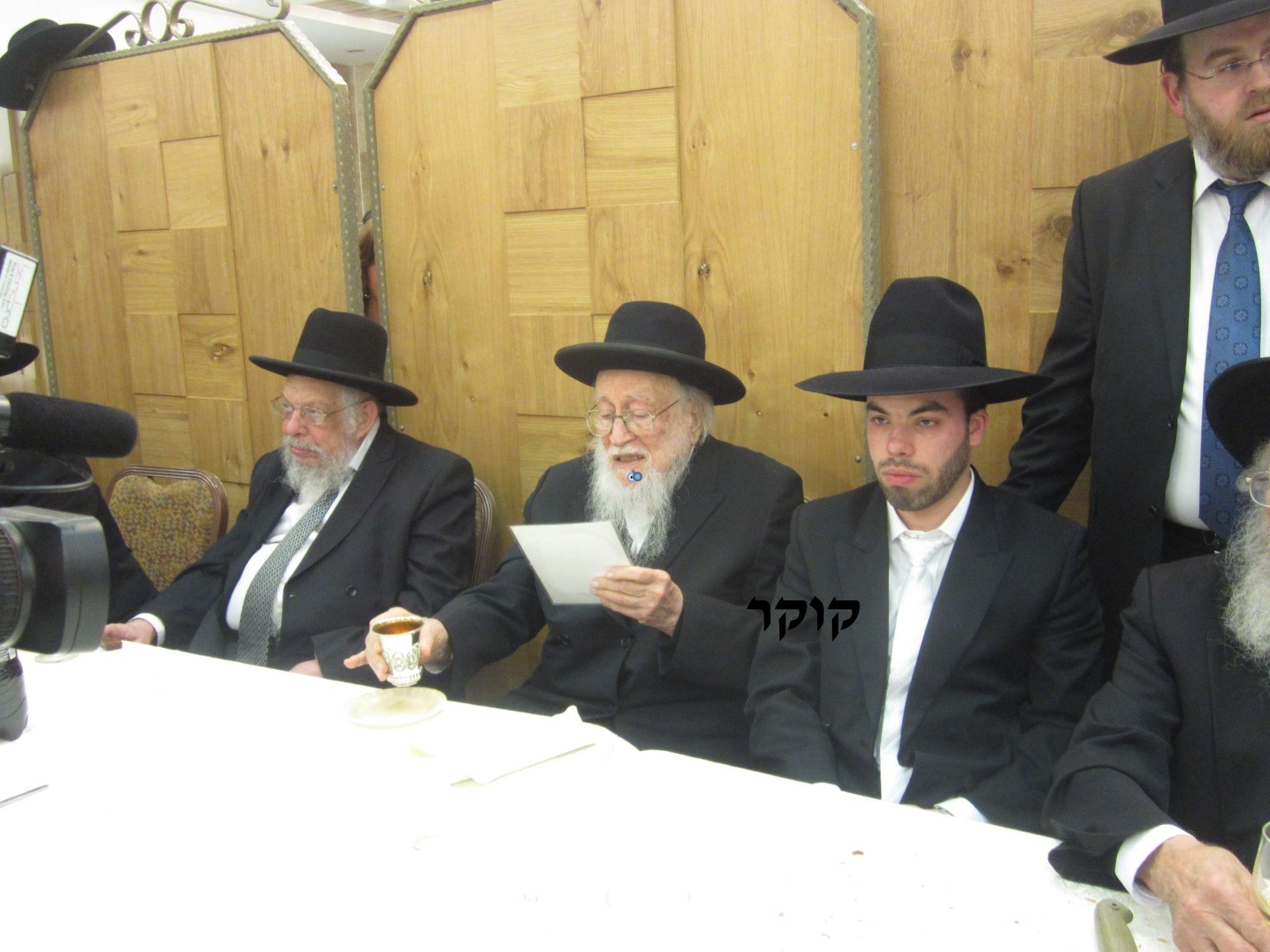 אדמו''ר מ טשערנוביל מטשערנוביל, חתונה, הרב יעקב אדלשטיין אדלשטין (6)