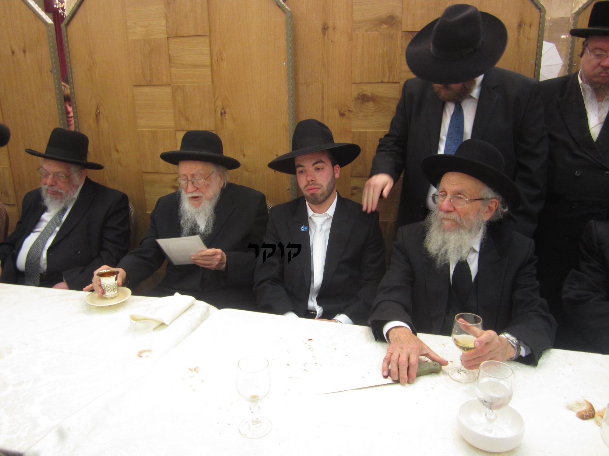 אדמו''ר מ טשערנוביל מטשערנוביל, חתונה, הרב יעקב אדלשטיין אדלשטין (7)