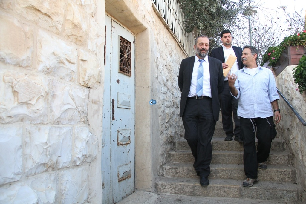 אריה דרעי  ביקור  עיר  דוד  באדיבות המצלם (10)