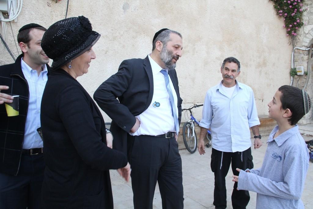 אריה דרעי  ביקור  עיר  דוד  באדיבות המצלם (13)