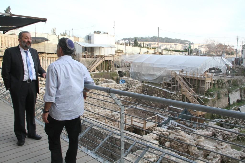 אריה דרעי  ביקור  עיר  דוד  באדיבות המצלם (14)