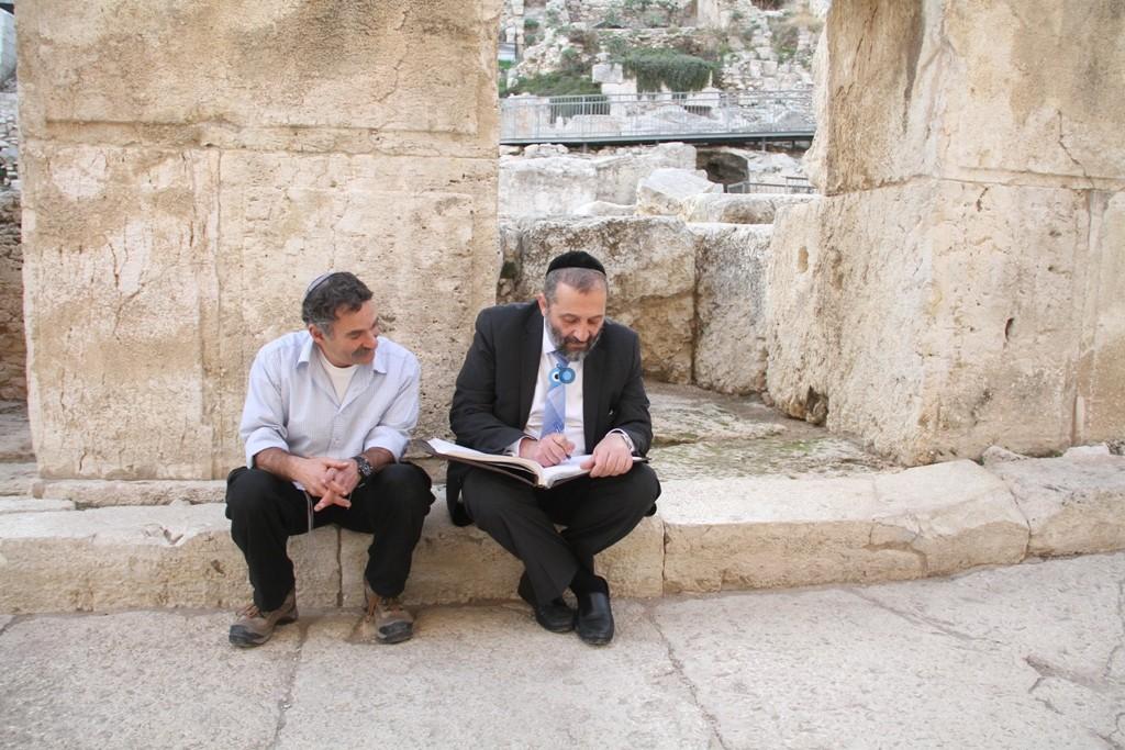 אריה דרעי  ביקור  עיר  דוד  באדיבות המצלם (19)
