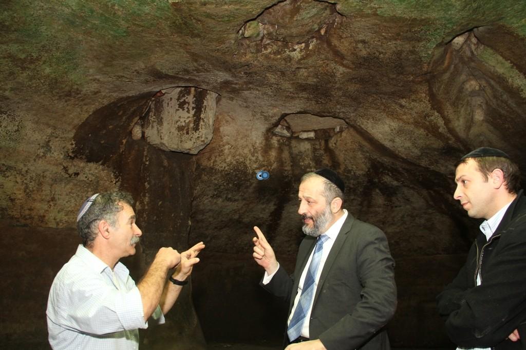 אריה דרעי  ביקור  עיר  דוד  באדיבות המצלם (2)