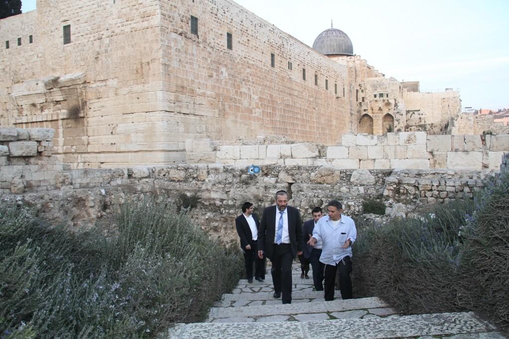 אריה דרעי  ביקור  עיר  דוד  באדיבות המצלם (21)