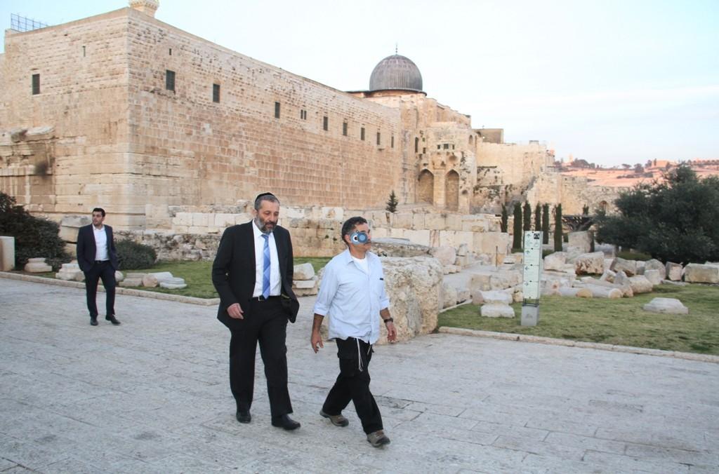 אריה דרעי  ביקור  עיר  דוד  באדיבות המצלם (22)