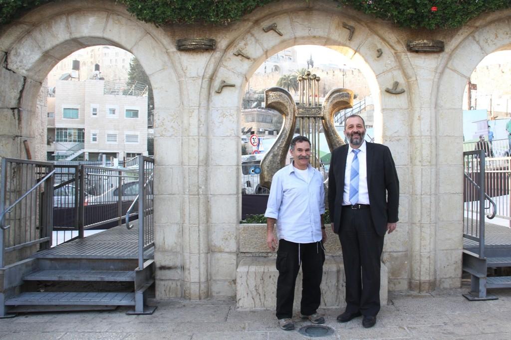 אריה דרעי  ביקור  עיר  דוד  באדיבות המצלם (23)