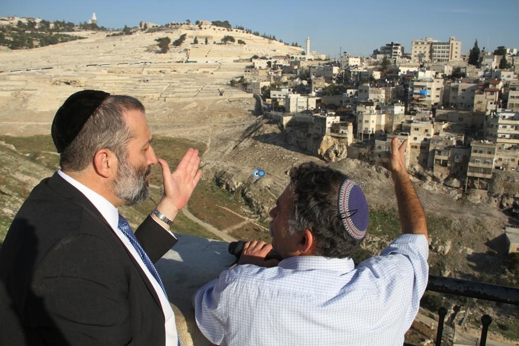 אריה דרעי  ביקור  עיר  דוד  באדיבות המצלם (4)