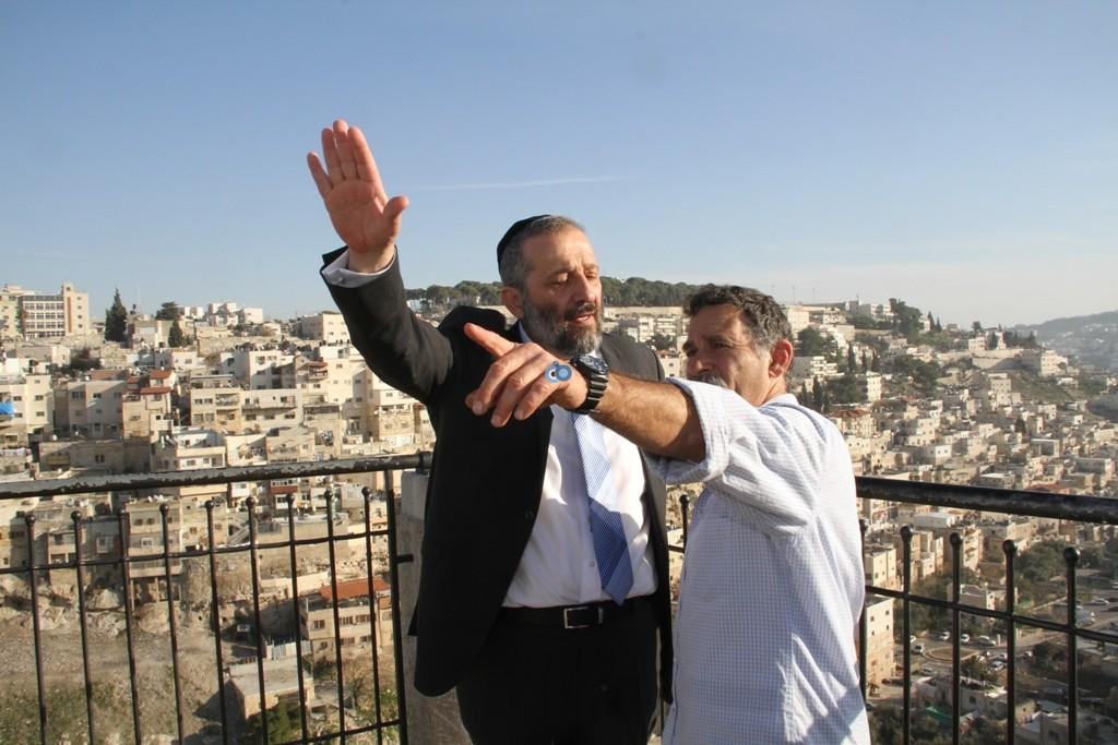 אריה דרעי  ביקור  עיר  דוד  באדיבות המצלם (5)