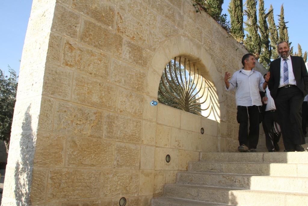 אריה דרעי  ביקור  עיר  דוד  באדיבות המצלם (6)