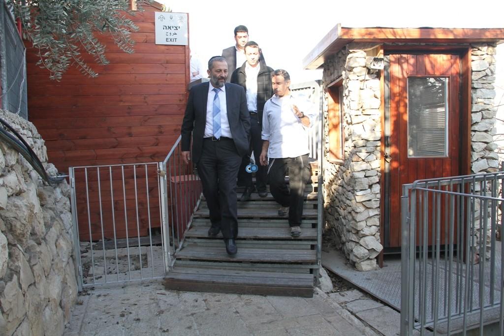 אריה דרעי  ביקור  עיר  דוד  באדיבות המצלם (8)