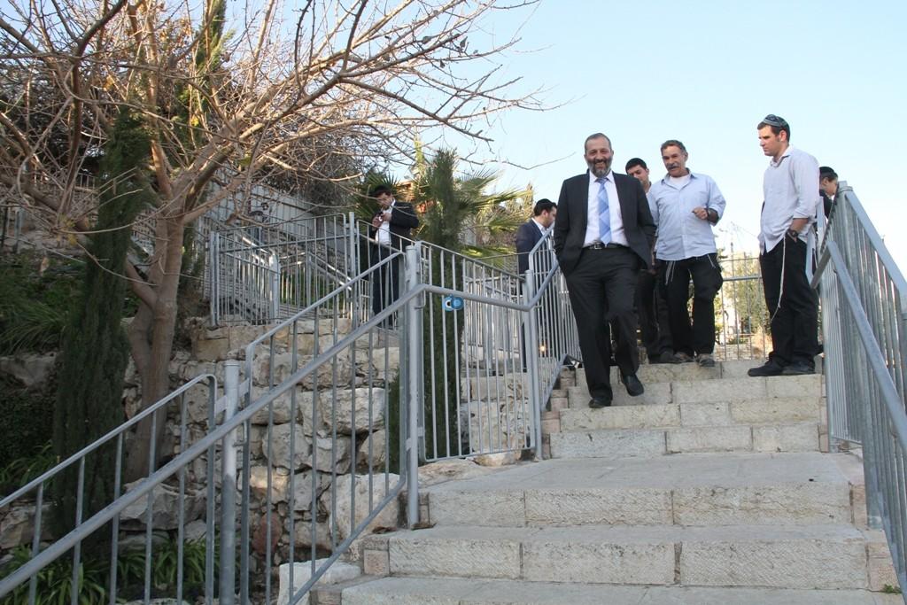אריה דרעי  ביקור  עיר  דוד  באדיבות המצלם (9)