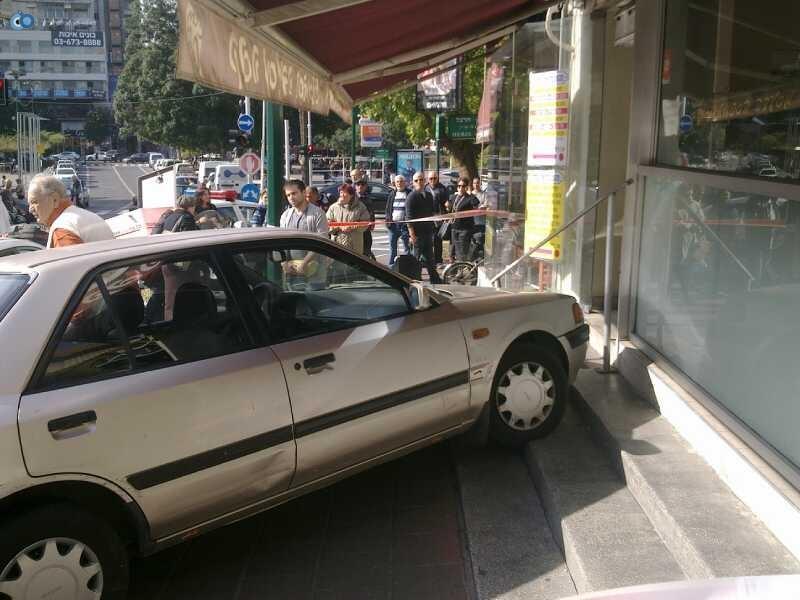 רכב תאונה נס צילם הצלה גוש דן
