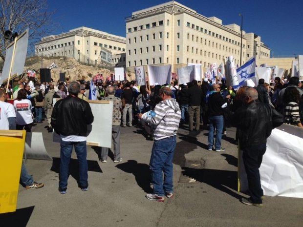 הפגנה בהדסה - משה מזרחי חדשות 24 (1)