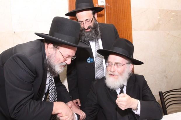 הגר''י ארנברג עם הגר''י זלושינסקי