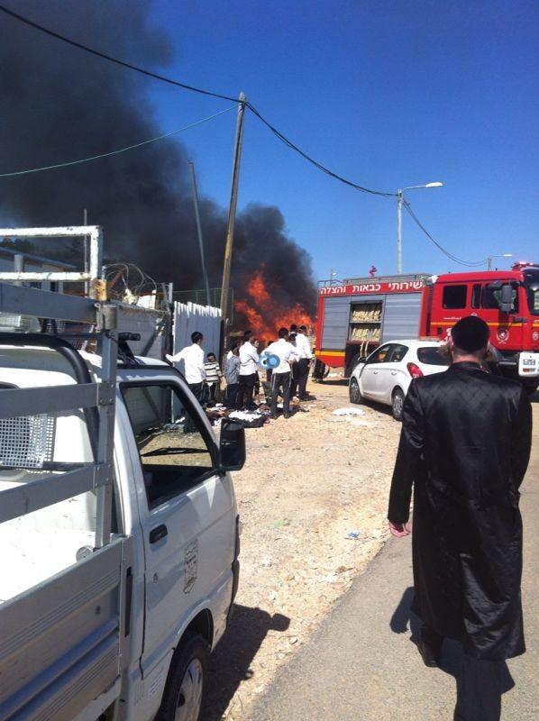 שריפה באיזור התעשיה ביתר צילם אביאל איטח 24 (11)