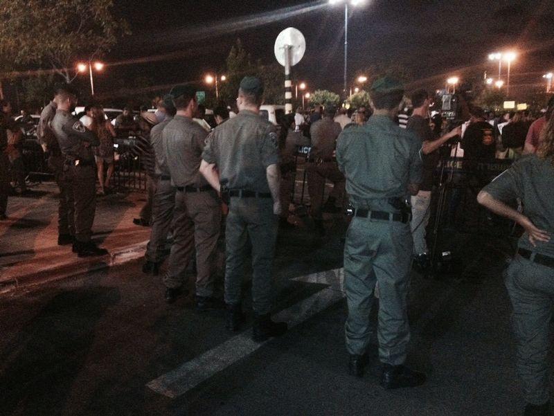 משטרה  הפגנה הפלג