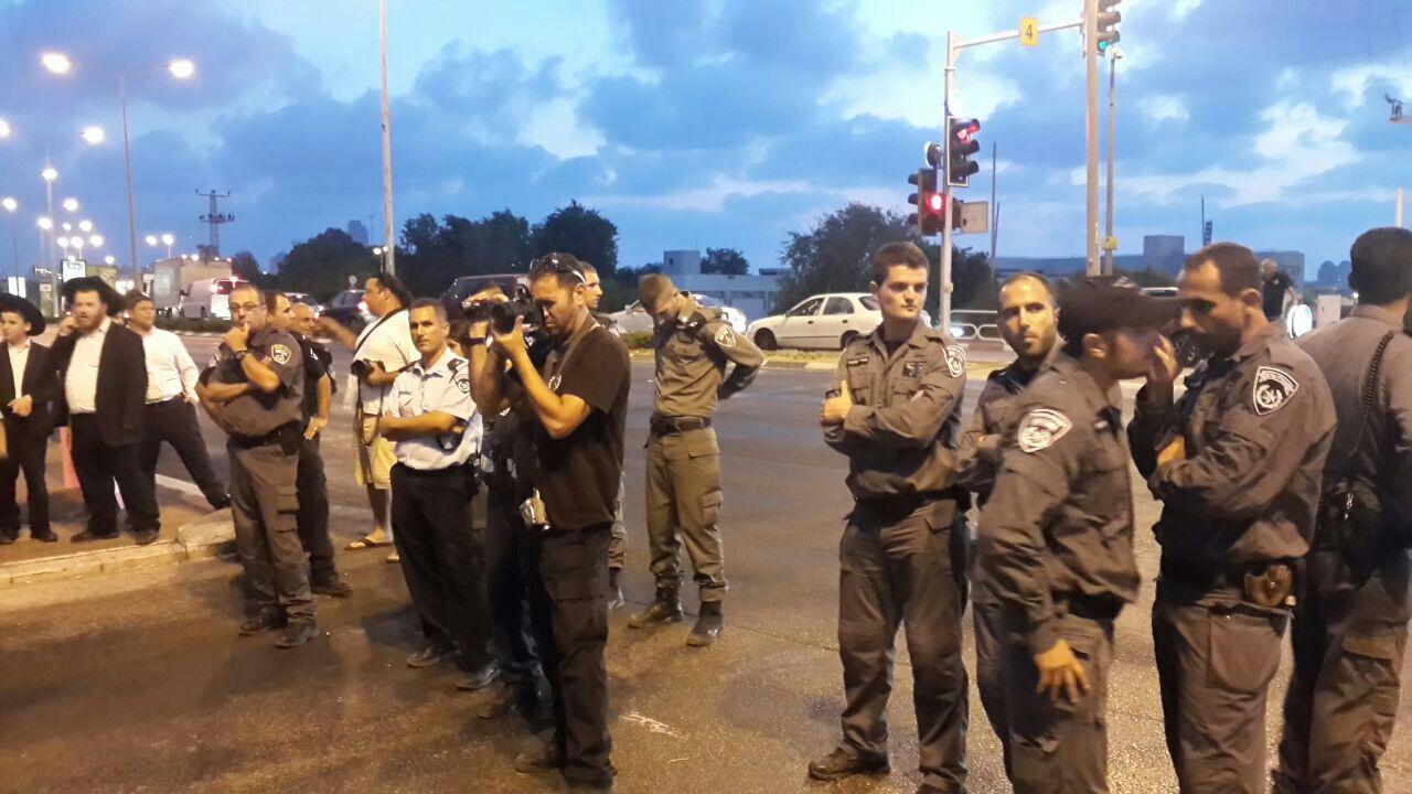 משטרה הפגנה