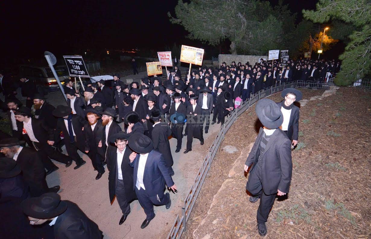 הפגנה בחורי ישיבות עריקים צילם משה בן נאים חדשות 24 (13)