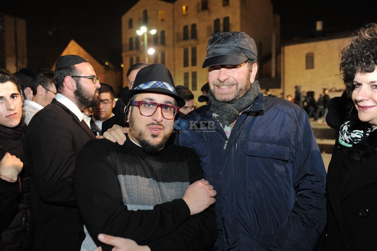 ליפא+דודו פישר בכיכר ציון צילום יוחאי כהן (2)