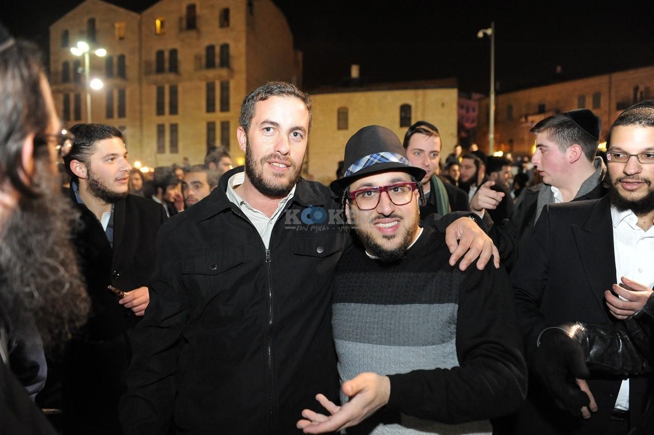 ליפא+דודו פישר בכיכר ציון צילום יוחאי כהן (5)