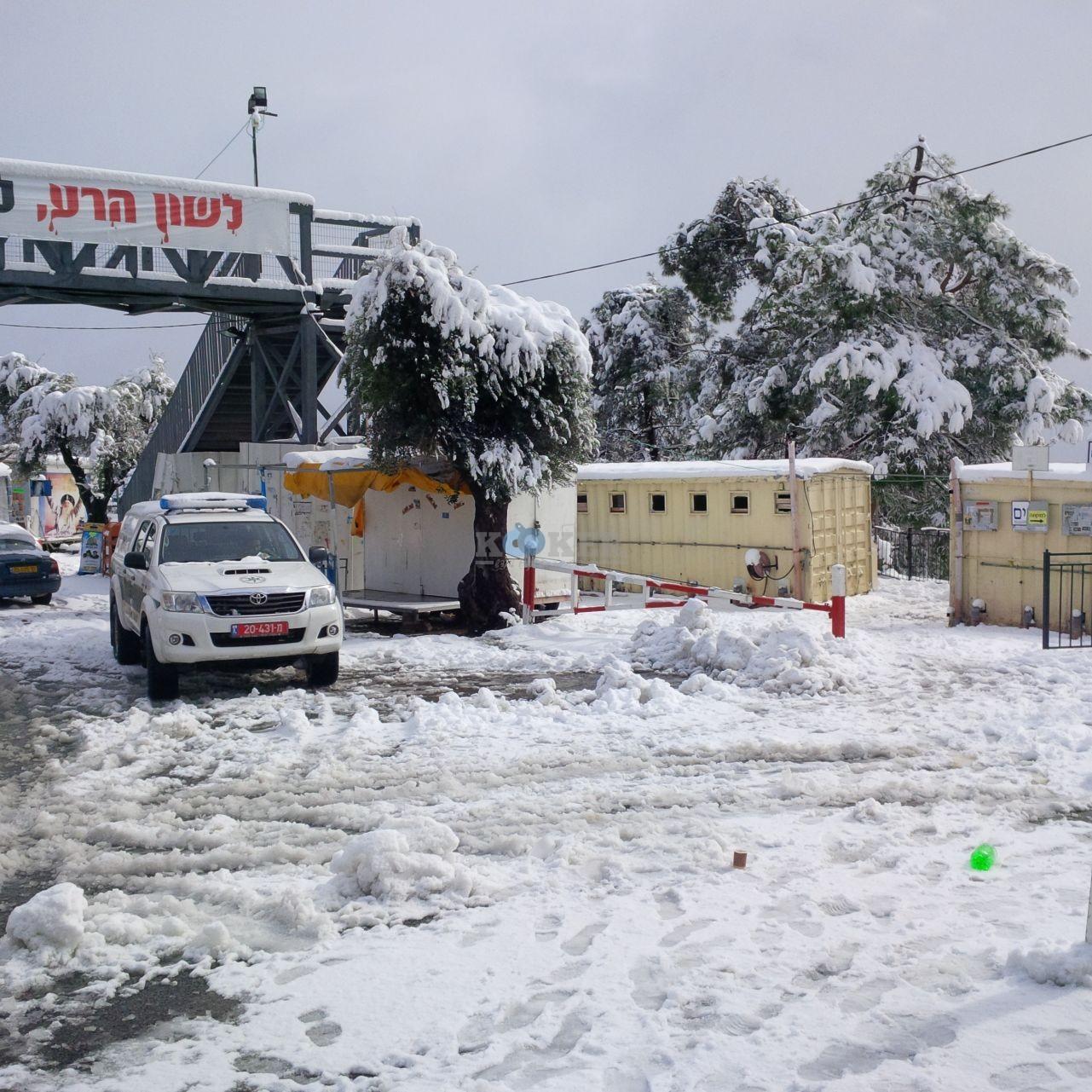 שלג במירון צילם דוברות חסדי שבתאי (1)