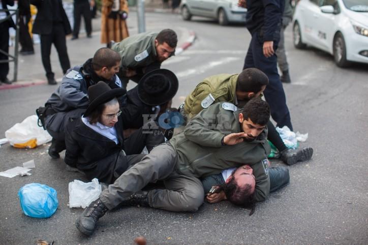 הפגנות הפלג הירושלמי צילום: פלאש 90