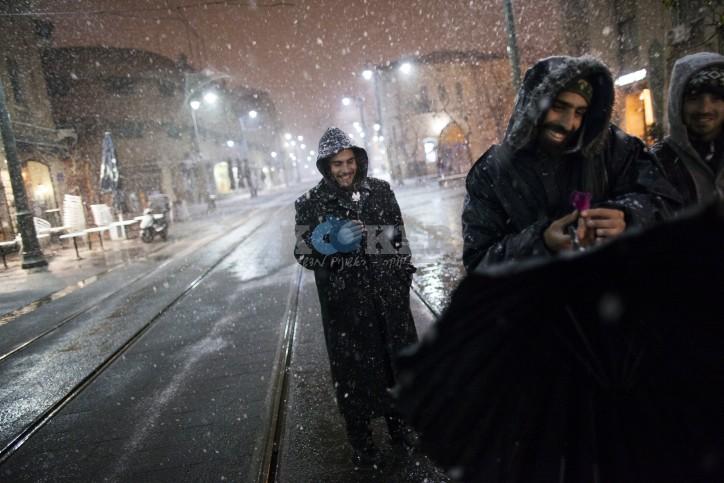 .שלג בירושלים - פלאש 90
