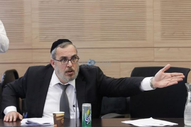 Untied Torah Judaism parliament member Yaakov Asher reacts during a Finance committee meeting regarding the 0-VAT law, in the Israeli Parlaiment in Jerusalem on September 04, 2014. Photo by Miriam Alster/Flash90