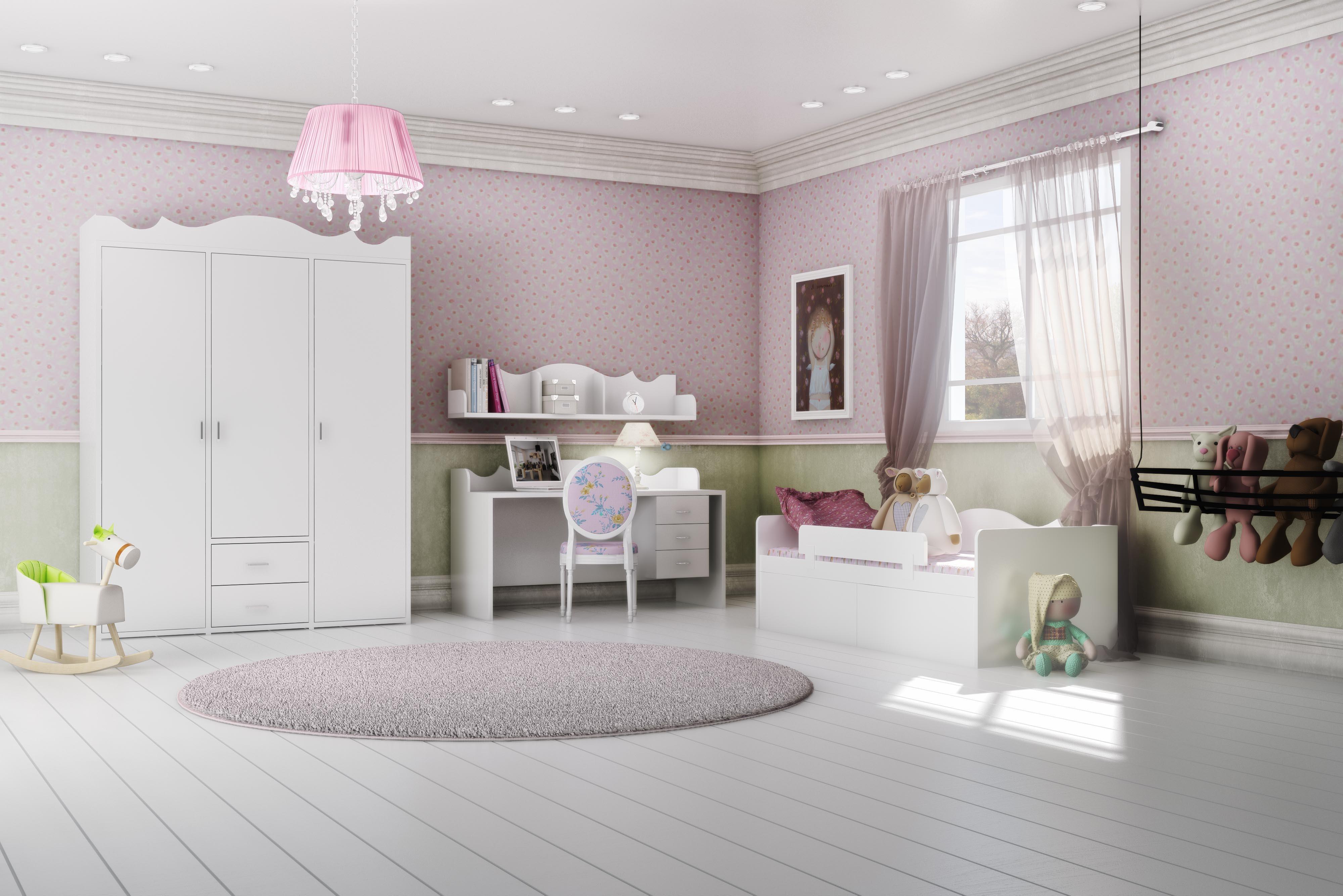 חדר פרובנס- 5950 שח. כולל ארון 3 דלתות ו2 מגירות פינת לימוד ומיטה. מעצב: ניצן הורוביץ