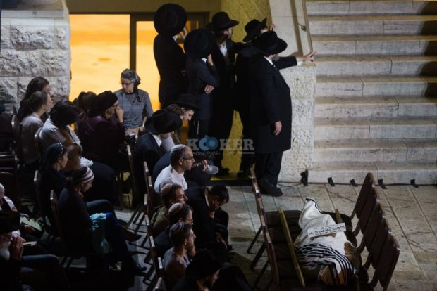 Ultra orthodox Jewish men attend the funeral of Toronto-born rabbi Haim Rothman in Har Nof, Jerusalem on October 24, 2015. Rabbi Rothman had been in a coma for the past 11 months, since wounded in a terror attack in a Har Nof synagogue, where four other worshipers and a policeman were killed when two East Jerusalem terrorists armed with a gun and axes stormed the Bnei Torah Synagogue in Har Nof, Jerusalem, and began attacking worshipers. Photo by Yonatan Sindel/Flash90 *** Local Caption *** ????? ?? ??? ????? ????