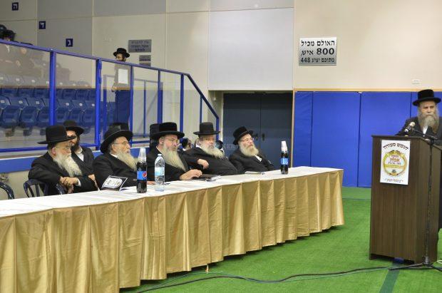 הרב חנוך זייברט ראש עיריית ב''ב יחד עם חבר הנהלת העיר הרב חיים מאיר לנגסאם במעמד