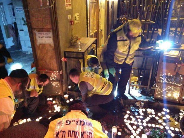 מתנדבי זקא תל אביב בזירת הפיגוע בדיזינגוף2
