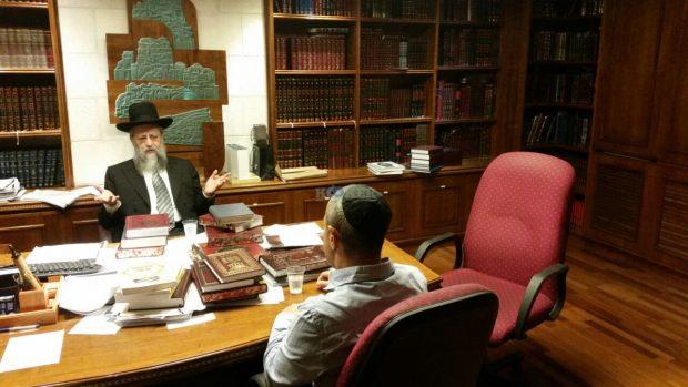 מנהל המחוז החרדי אצל חבר מועצת החכמים הגרד יוסף